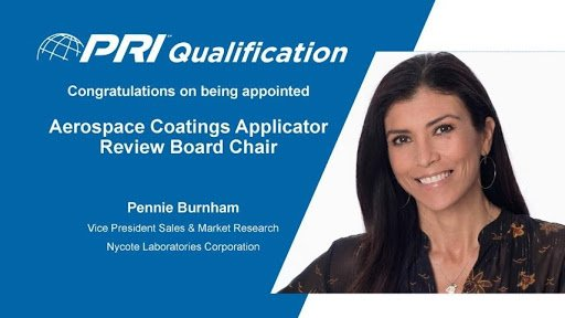 Pennie Burnham,NycoteSales & Market Research VP to serve asAerospace Coatings Applicator Specialist(ACAS) Chair