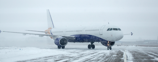Airplane on a Snow Covered Runway - Protecting Engines and Landing Gear from Runway Deicer
