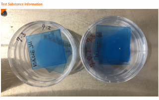 Non-porous test substance for the Nycote antibacterial activity and efficacy case study
