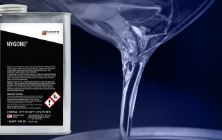 Nygone polymer surface coating remover